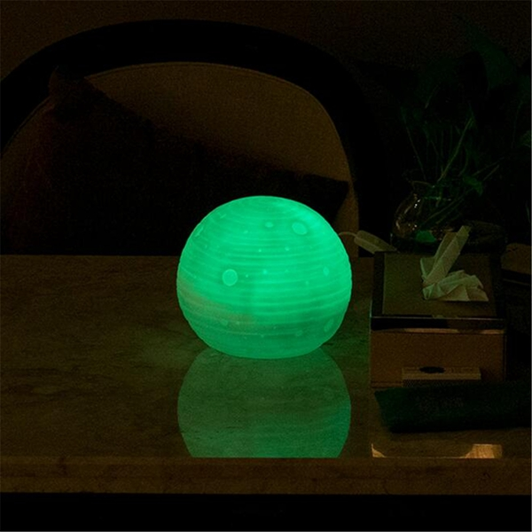 3D Moon Luna Night Light LED Desk Lamp Color Changing Decor With Remote Control