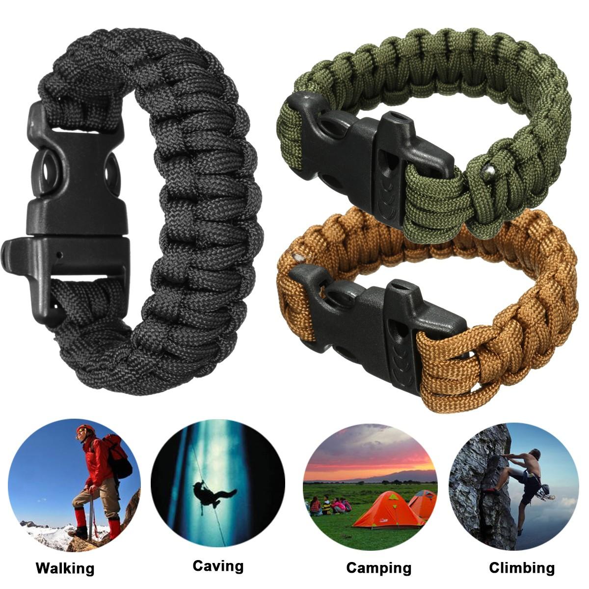 Paracord Survival Weave Bracelet Paracord Survival Bracelet Emergency EDC 7 Cores Bracelet