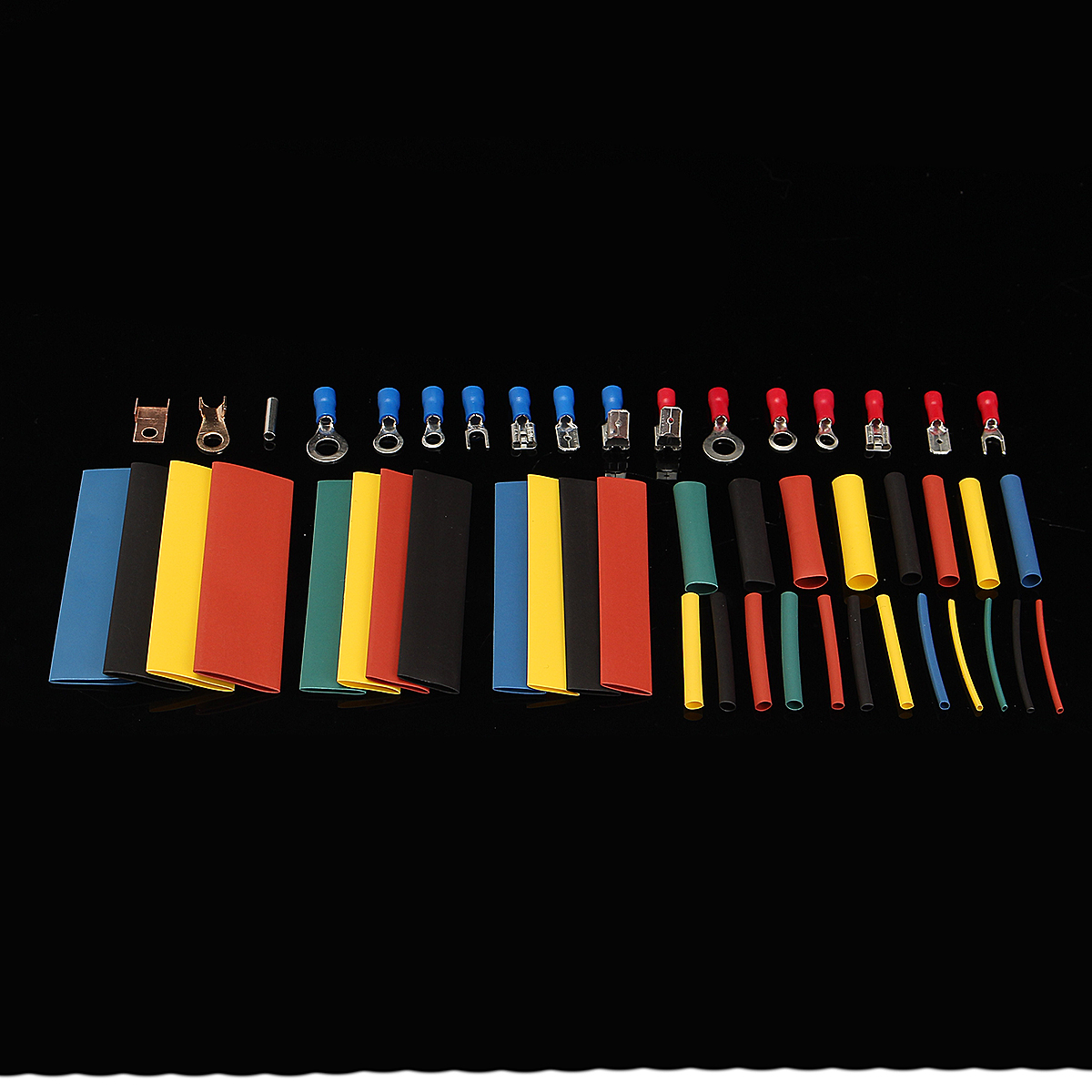 Soloop 350pcs Terminals Connectors + 328pcs 2:1 Heat Shrink Tube Assorted Box Kit
