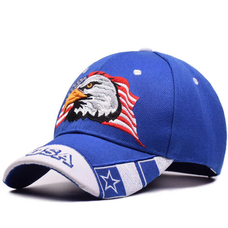 Men Unisex Outdoor USA Eagle Embroidered Baseball Cap