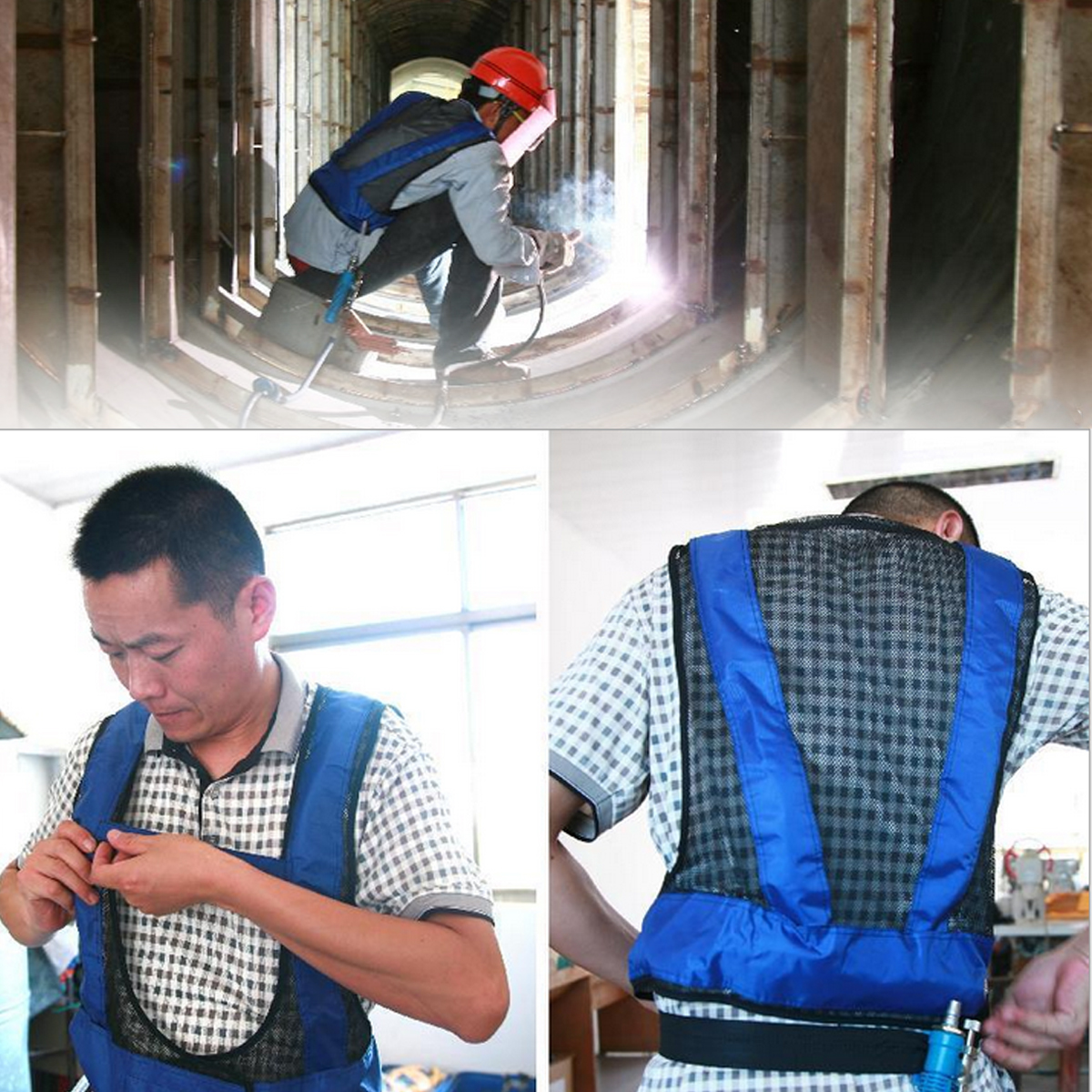 Air Conditioner Waistcoat Compressed Air Cooling Vest Forging Welding Steel Suit
