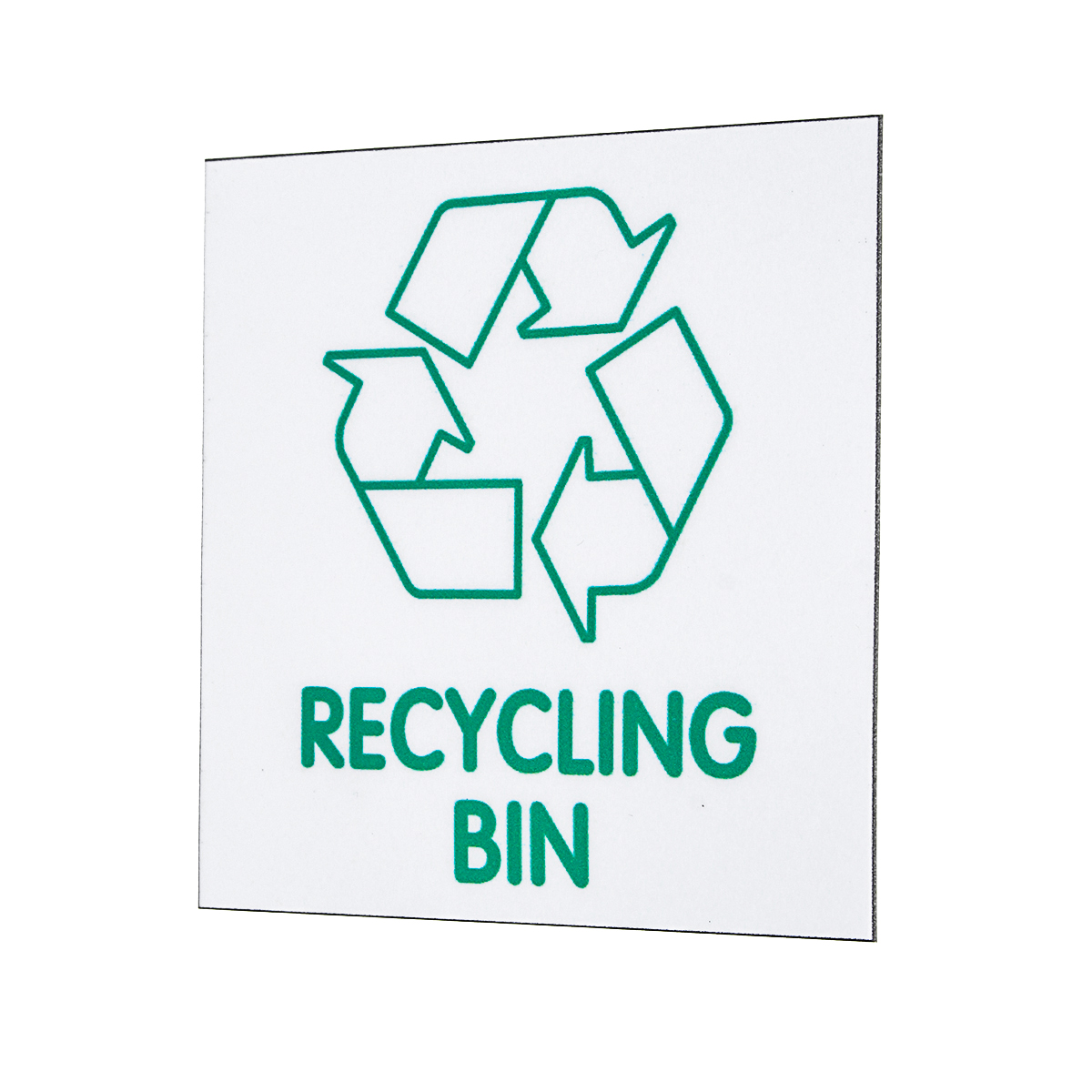 Recycle Logo 87x87mm Self-adhesive Recycling Bin Sign Sticker Environment Label Tape