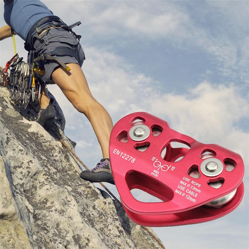 Outdoor Rock Ice Climbing Equipment Accessary Rescue Cable Trolley Aluminum Alloy Speed Pulley