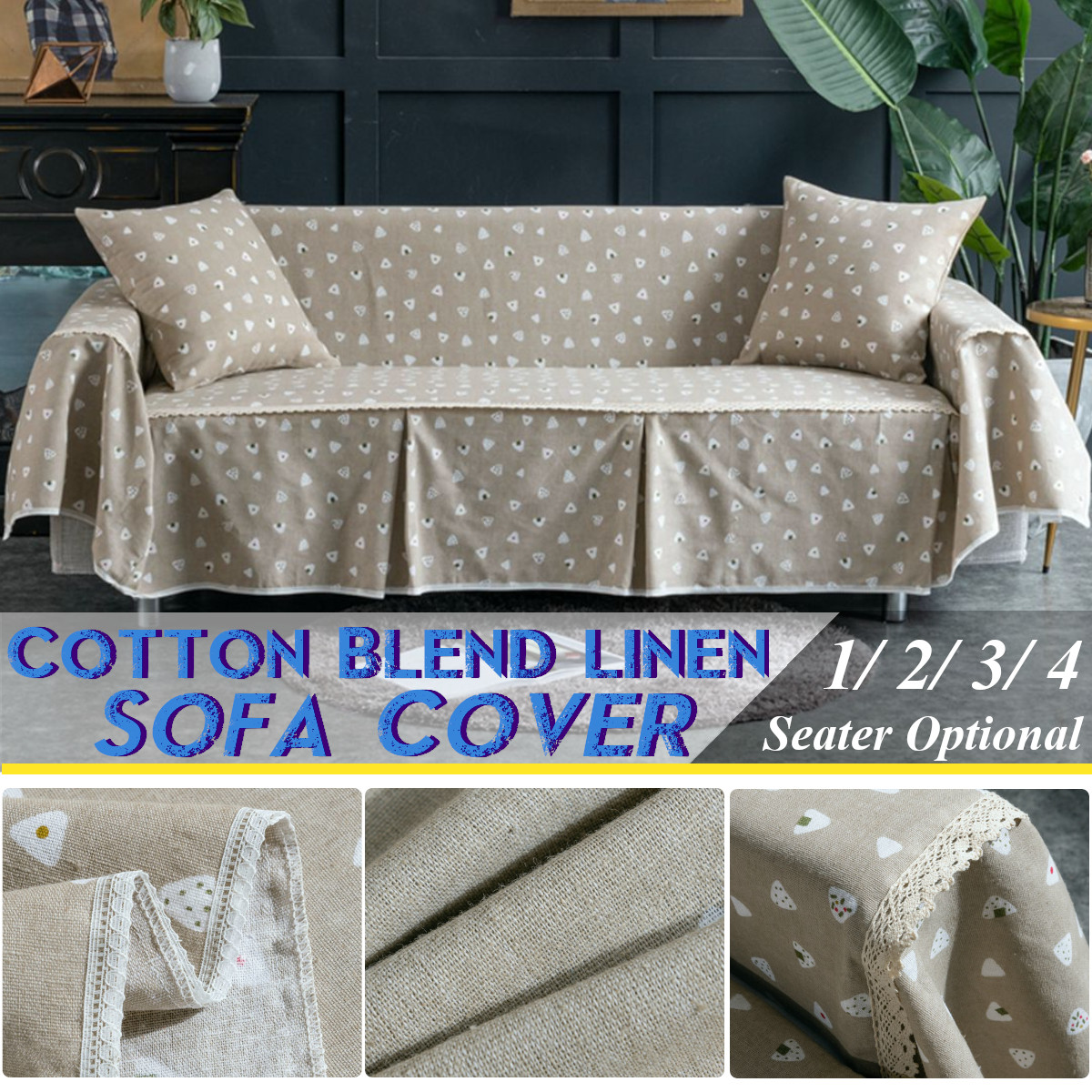 Sofa Seat Covers Couch Slipcover Cotton