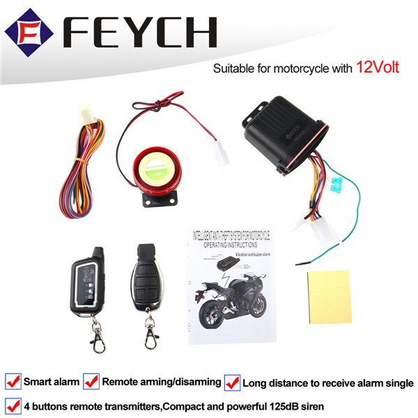 FEYCH Motorcycle Motor Bike Scooter Anti Theft Security Remote Vibration Sensor Alarm