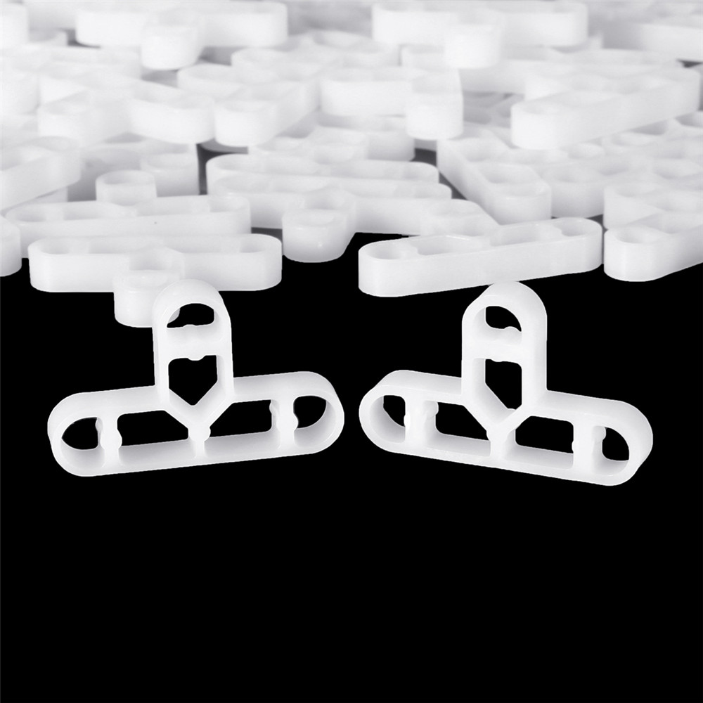 100pcs T-shaped Tile Clips Tile Spacers Tile Leveling System Wall Floor Level Tool