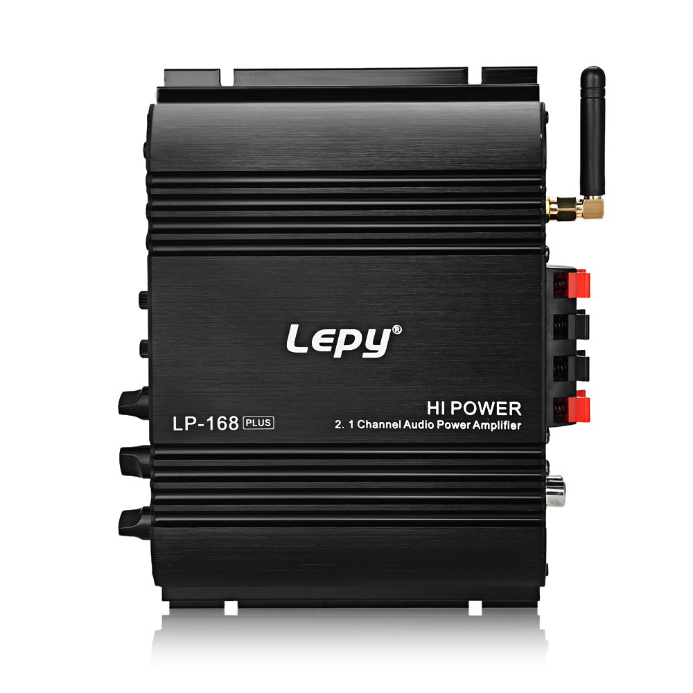 Lepy LP 168 Plus 2.1 Channel Car Amplifier 3.55MM Audio Wired Super Bass HiFi Stereo Bass Output Power