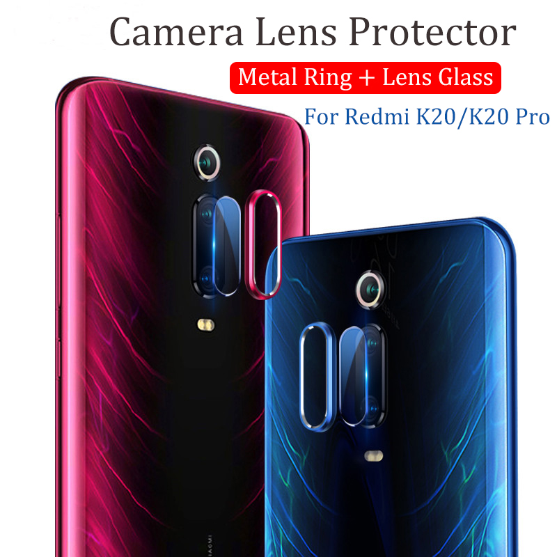 Bakeey Anti-scratch Metal Circle Ring + Tempered Glass Phone Camera Lens Protector for Xiaomi Mi 9T / Mi9T PRO / Xiaomi Redmi K20 / Redmi K20 PRO