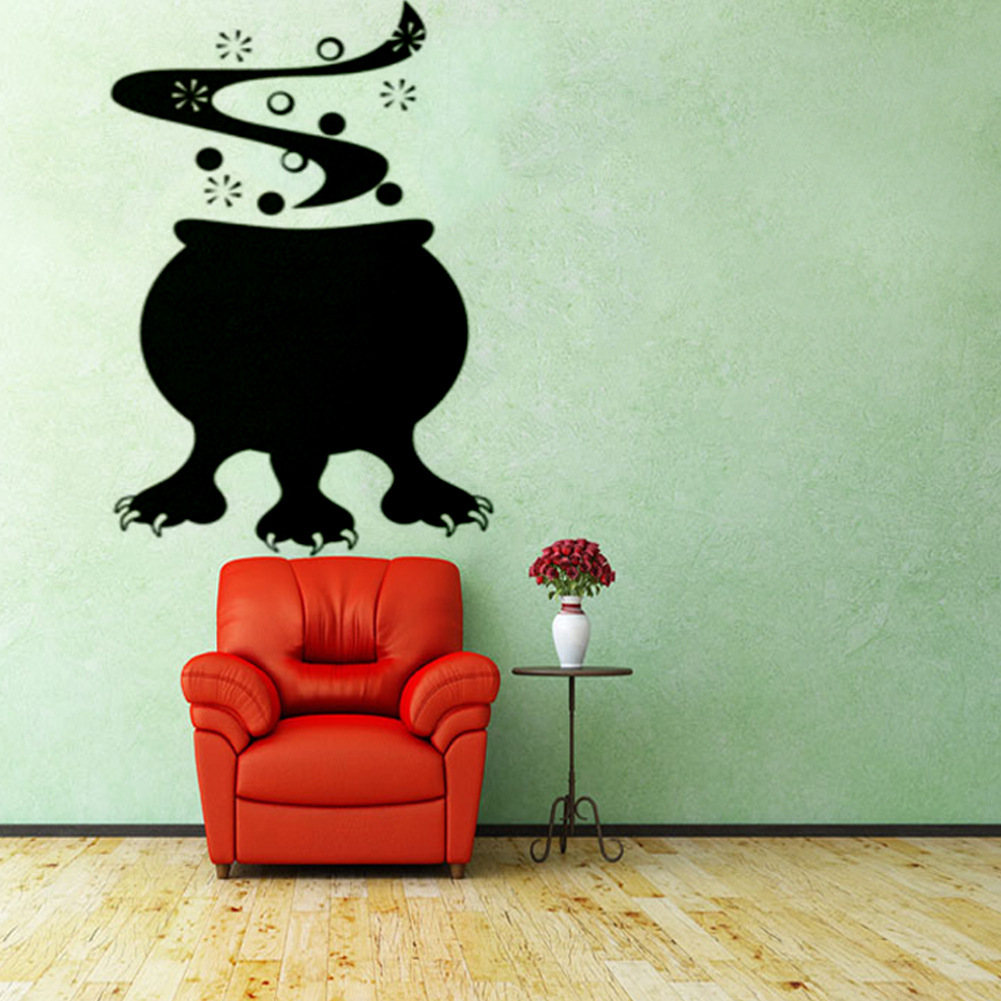 Creative Halloween Cooking Pot Claw PVC Waterproof Wall Sticker Removable Vinyl Art Mural Decoration Stickers Environmental Protection Halloween Wall Sticker Window Home Decoration Decal Decor