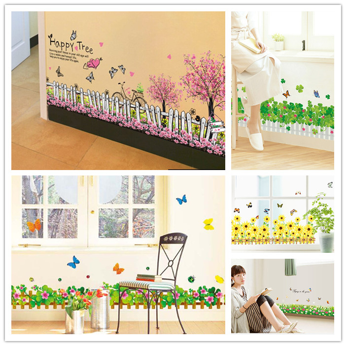 Skirting Wall Stickers Decals 20 Patterns Home Wall Window Decor Door Skirting Board Wall Line Decal