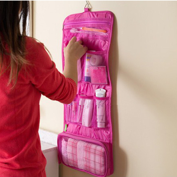 Travel Portable Hanging Organizer Bag Foldable Cosmetic Makeup Case Toiletry Storage Bags