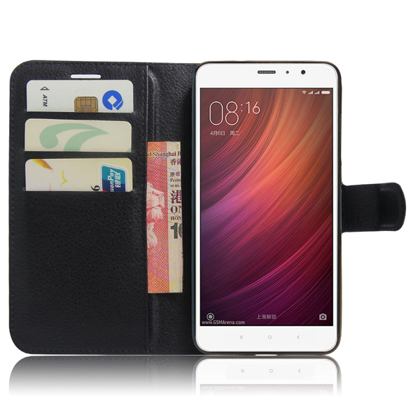 PU Leather Flip Magnetic Card Solt Wallet Stand Case For Xiaomi Redmi Note 4