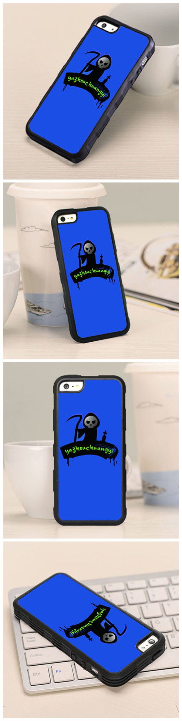 Fashionable Halloween Case TPU Soft Back Cover For iPhone 5 5S