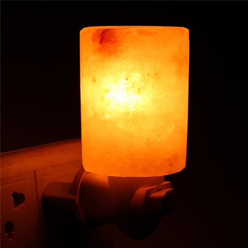 15W Mini Hand Carved Natural Crystal Himalayan Salt Lamp Night Light