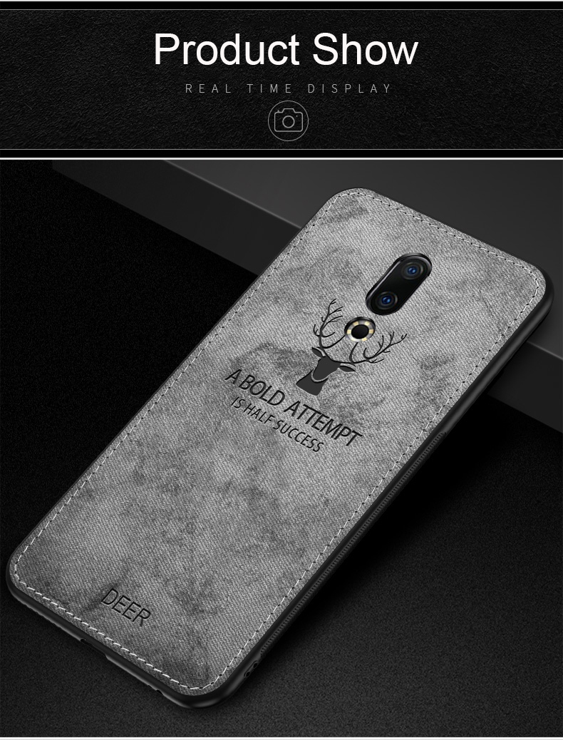 Bakeey™ Deer Pattern Shockproof Cloth Soft TPU Back Cover Protective Case for Meizu 16 / Meizu 16th