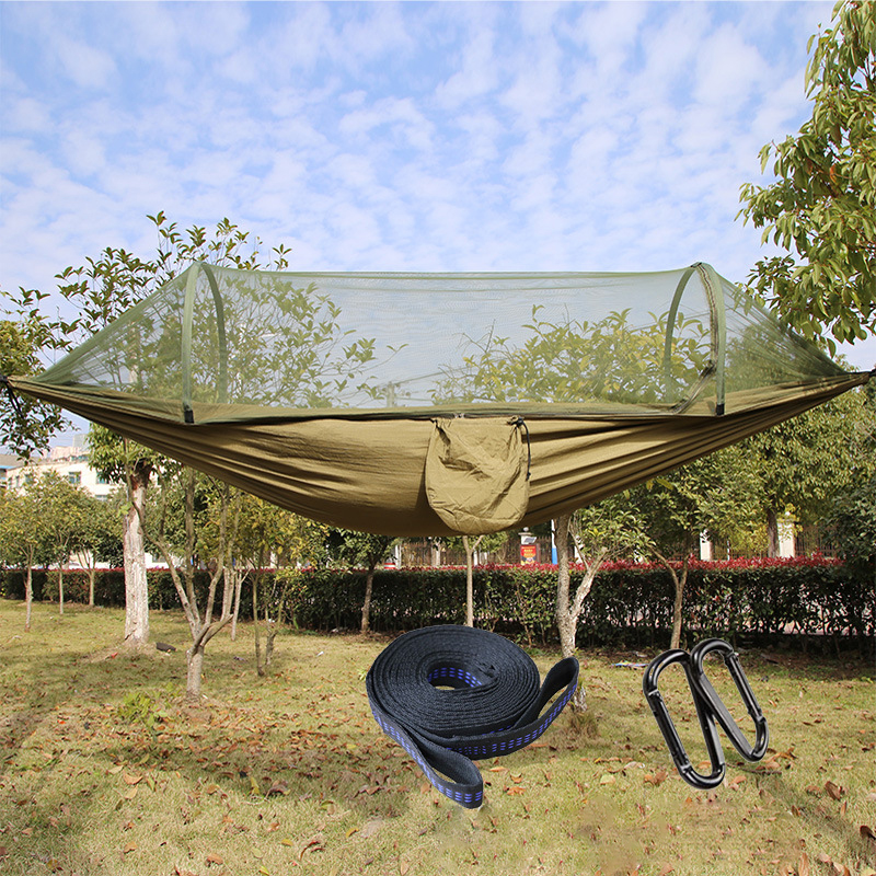 IPRee® Outdoor Camping Automatic Open Hammock Tent Nylon Parachute Hanging Swing Bed Mosquito Net