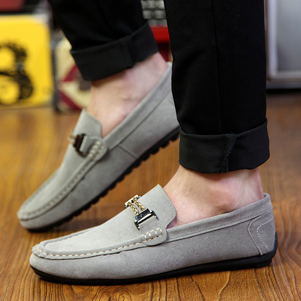 Men Suede Casual Slip On Flats Loafer Shoes Soft Comfortable Moccasins Driving Shoes