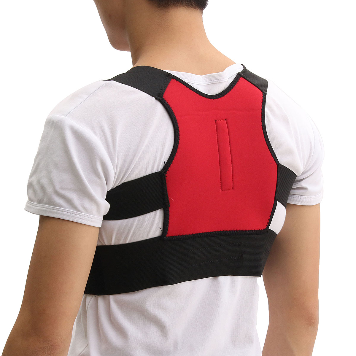 Unisex Back Support Posture Corrector Lumbar Correction Shoulder Brace Belt