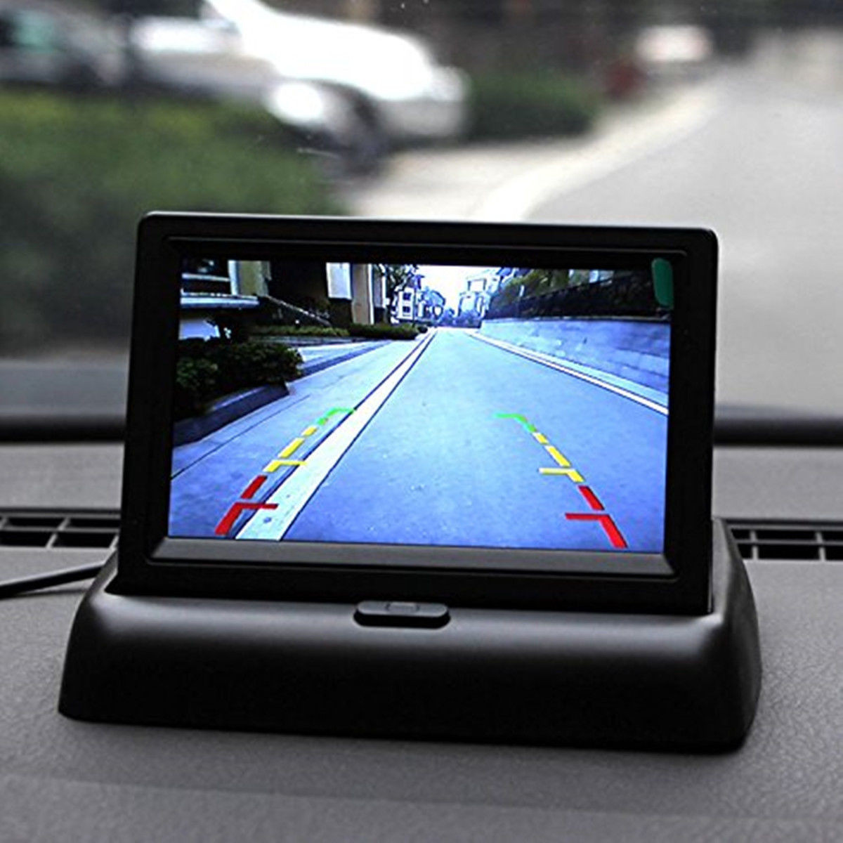 4.3 Inch TFT LCD Monitor LED IR Reversing Camera Car Rear View Kit For Truck Bus