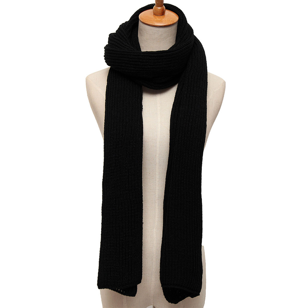Cotton Knitting Stretchable Scarf Mens Womens Soft Scarves
