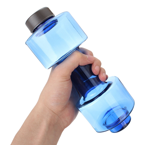 550ml Dumbbell Shaped Sport Travel Water Drink Bottle Fitness Gym Exercise Cup Water Bottle