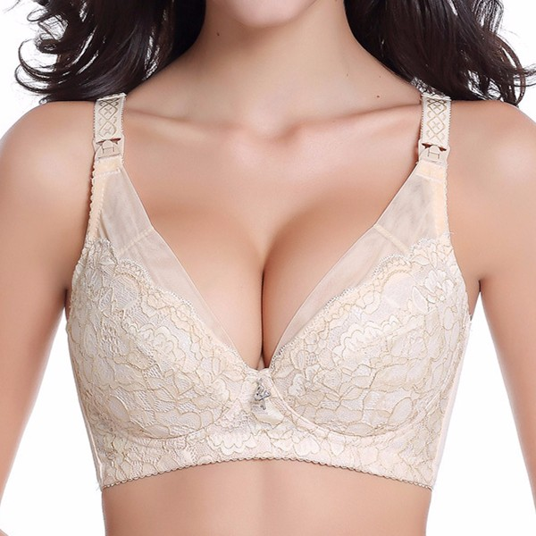 Luxury Embroidery Lace Comfort Nursing Bra