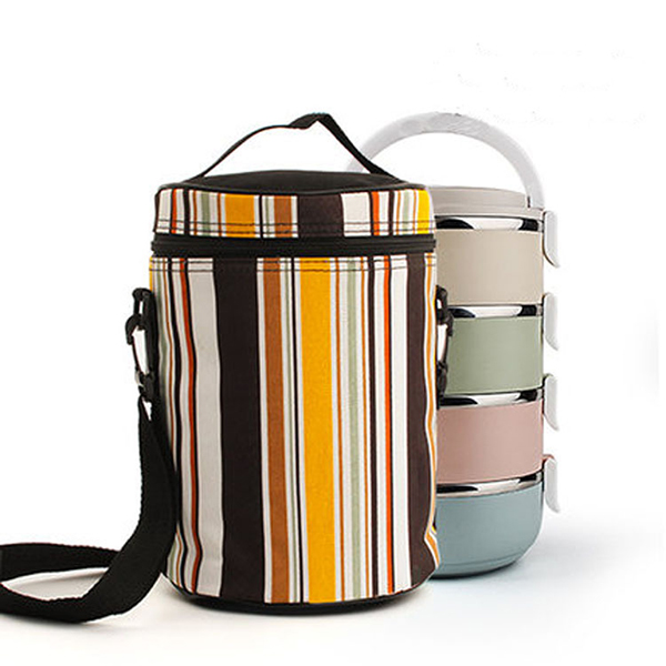 Thermal Insulated Stripe Cooler Bag Outdoor Extra Large Picnic Lunch Box BBQ Pack Accessories