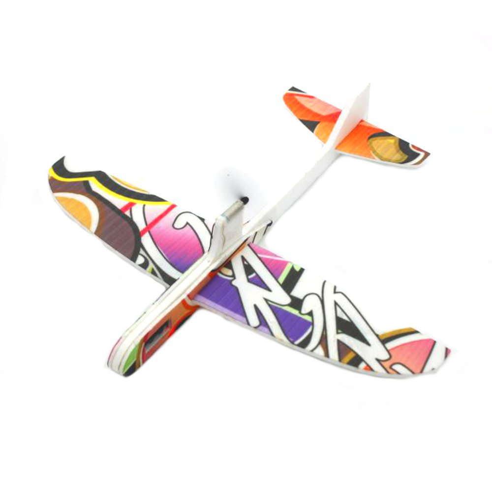 290mm Wingspan PP Material Electric Capacitor Hand Throwing Free-flying Glider DIY Airplane Model