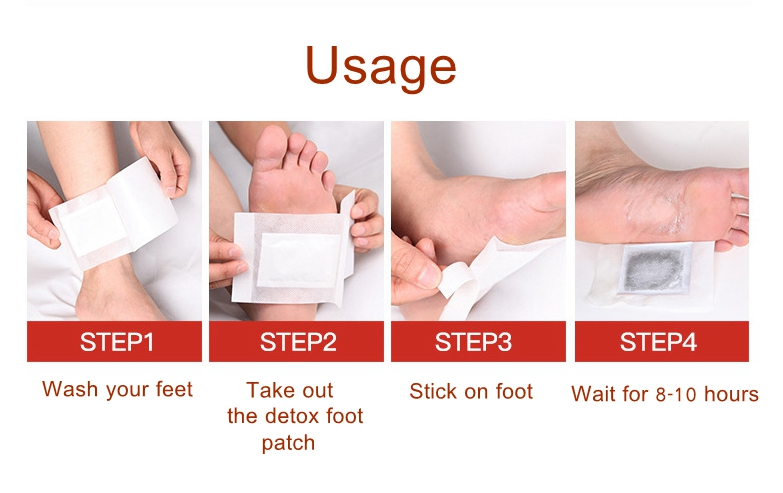 MIYAS 10pcs Chinese Herbal Detox Foot Patches Promote Sleep Pain Fatigue Relief Detoxification Pads