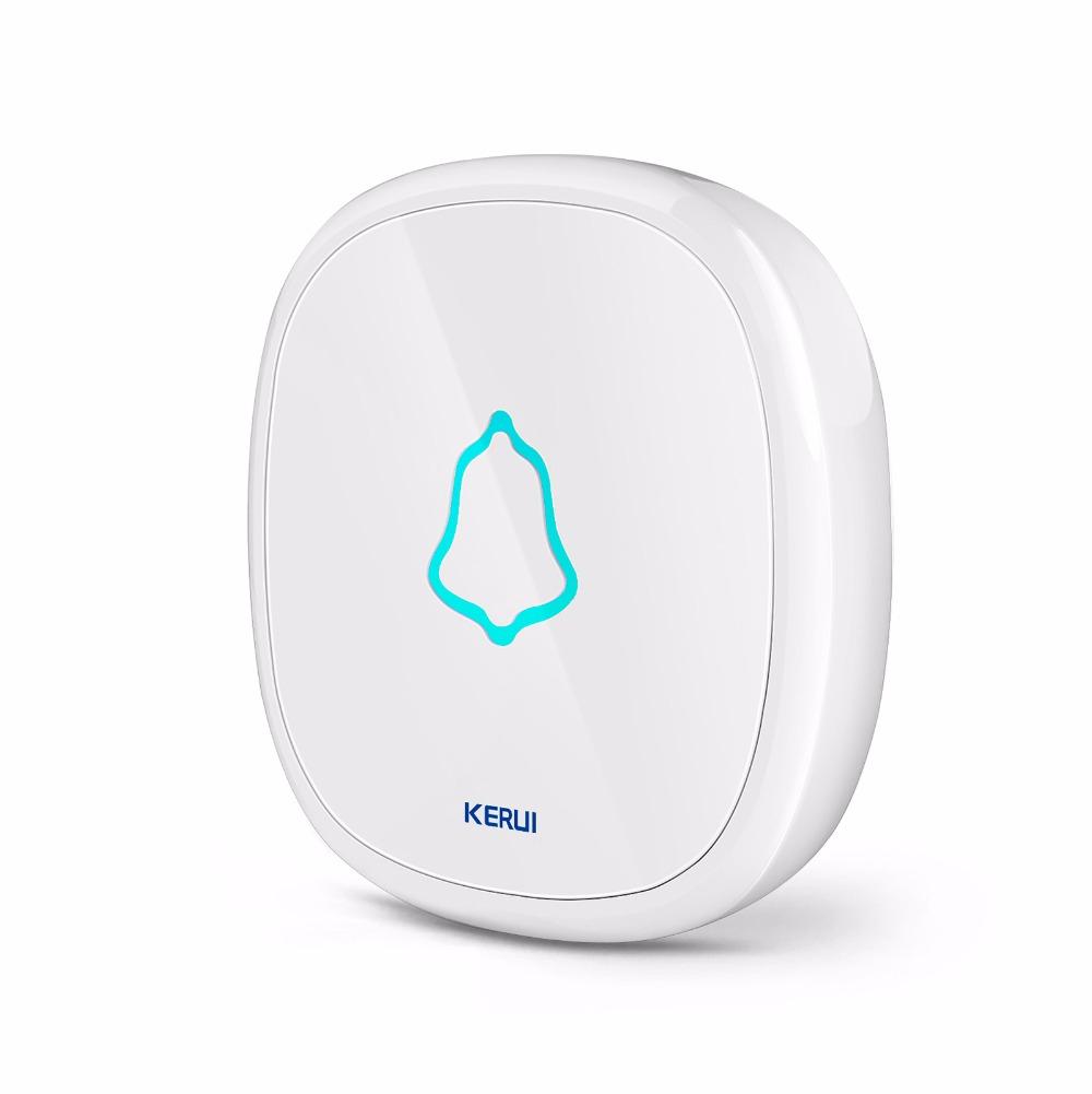KERUI F52 Waterproof Touch Doorbell Wireless SOS Emergency Button for KERUI Home Alarm System 433MHz