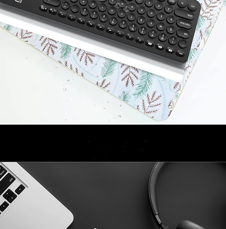 Ultra Thin Mute 104 Keys Wireless bluetooth Keyboard Support Pair Up To 3 Different Devices