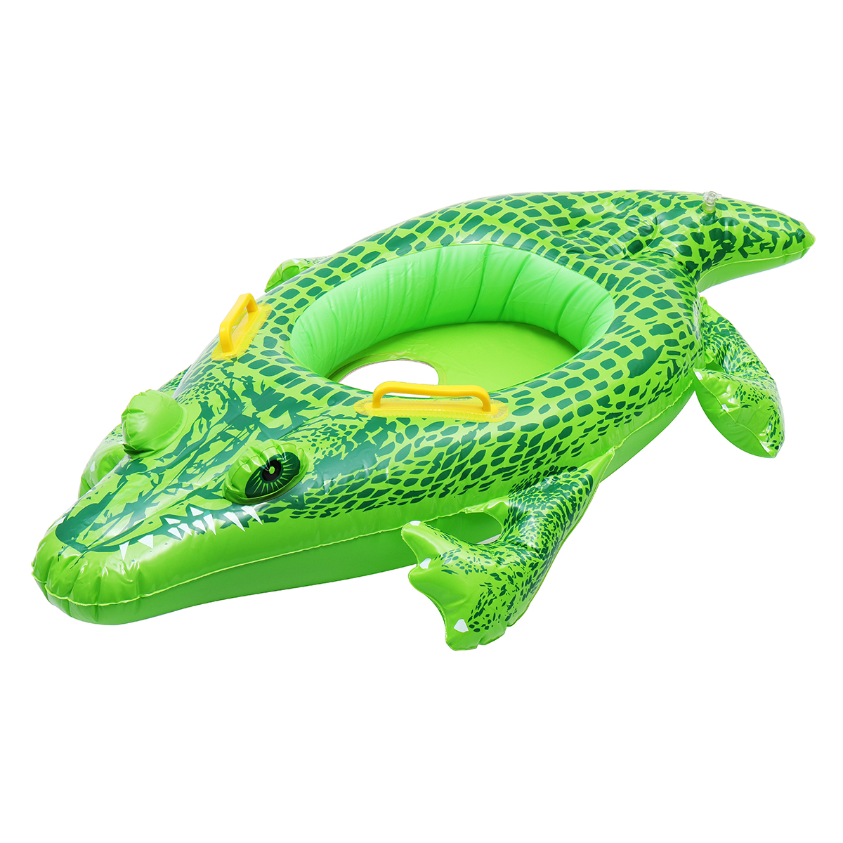 Inflatable Kids Baby Crocodile Swimming Ring Float Boat Seat Swim Pool Floaties