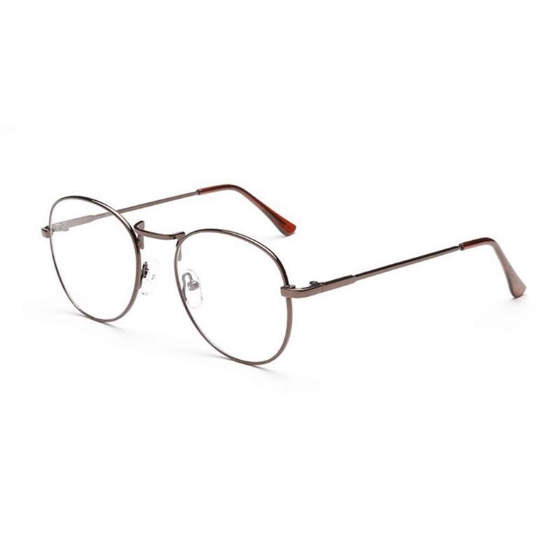 Mens Women Lightweight Round Frame Fake Glasses
