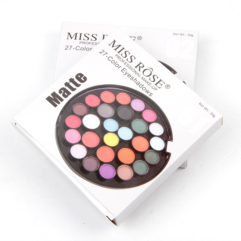 4 Styles 27 Colors Eye Shadow Palette Shimmer Matte