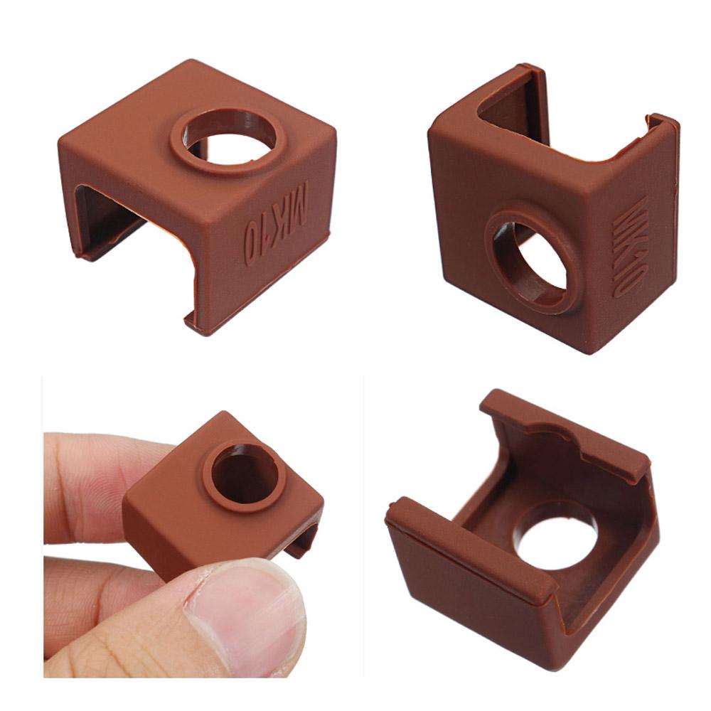 10шт MK10 Цвет кофе Силиконовый Защитный Чехол Для нагрева алюминиевого блока 3D-принтер Часть Hotend