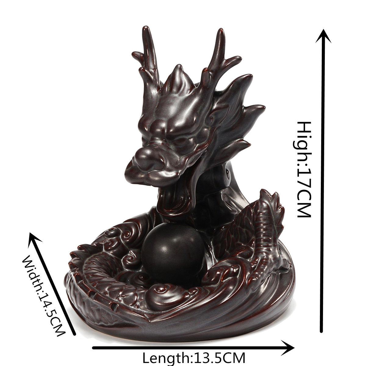 Dragon Porcelain Backflow Incense Burner