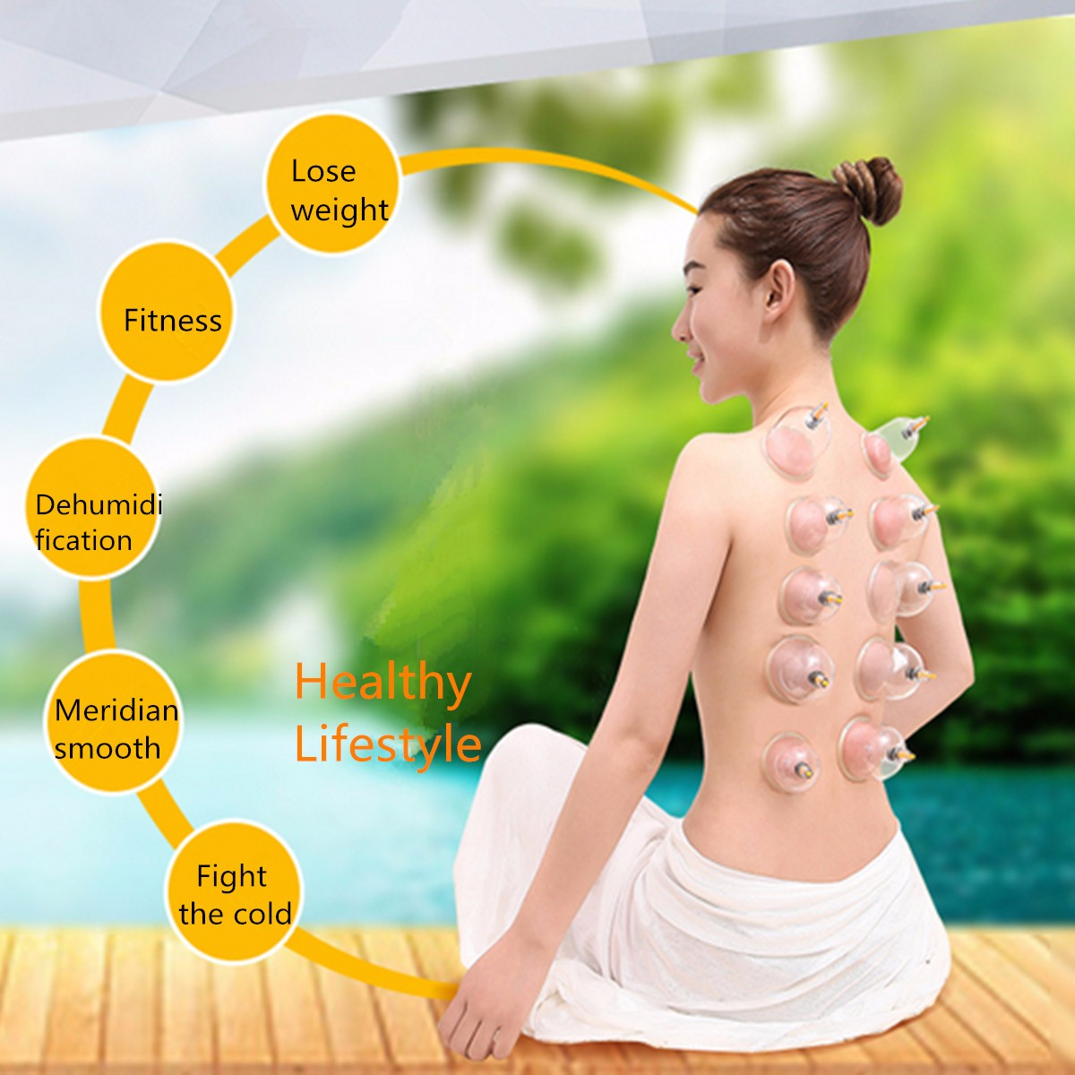 Kangzhu 20-Cups Chinese Vacuum Cupping Acupuncture Massage Therapy Magnetic Suction Set