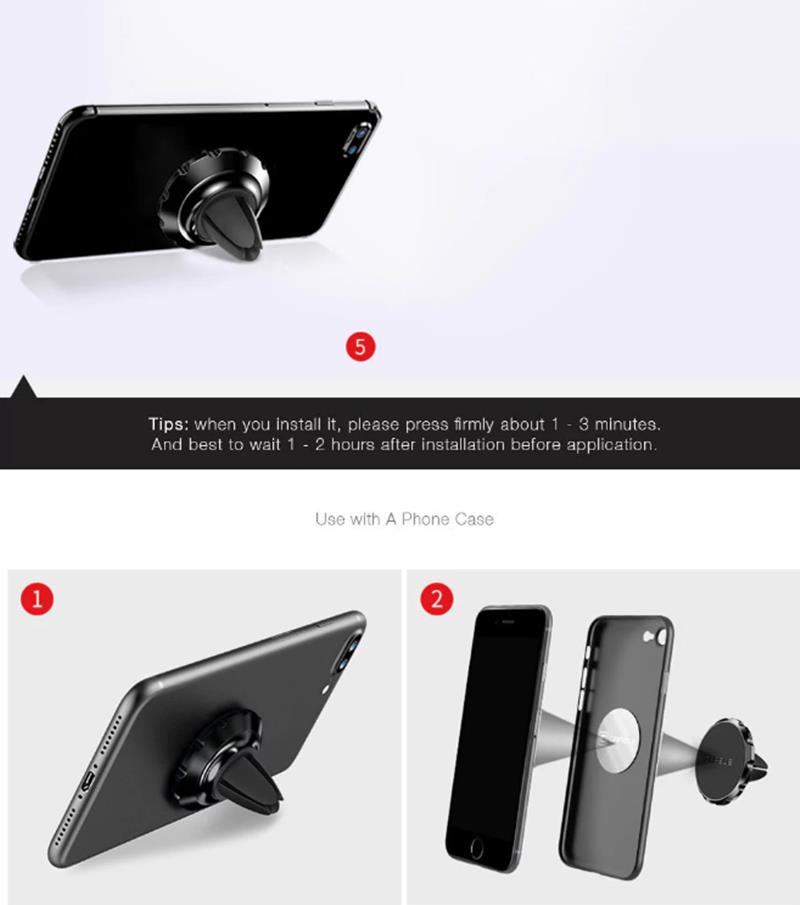 Cafele Magnetic Aluminum Alloy Air Vent Car Mount Phone Holder for iPhone Samsung Xiaomi GPS