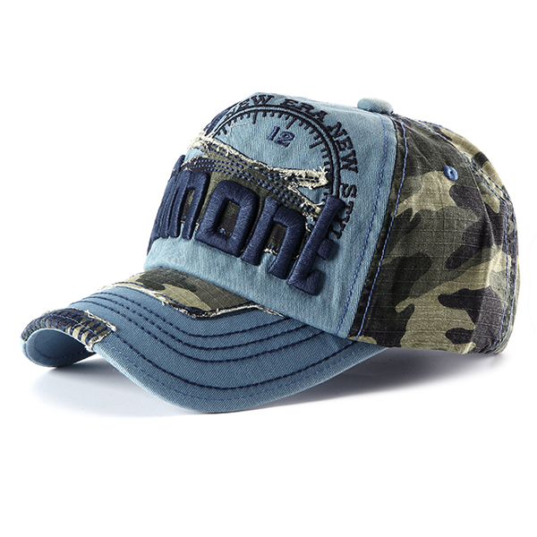 Unisex Embroidery Baseball Cap Camouflage Casual Outdoor Hip-hop Hat