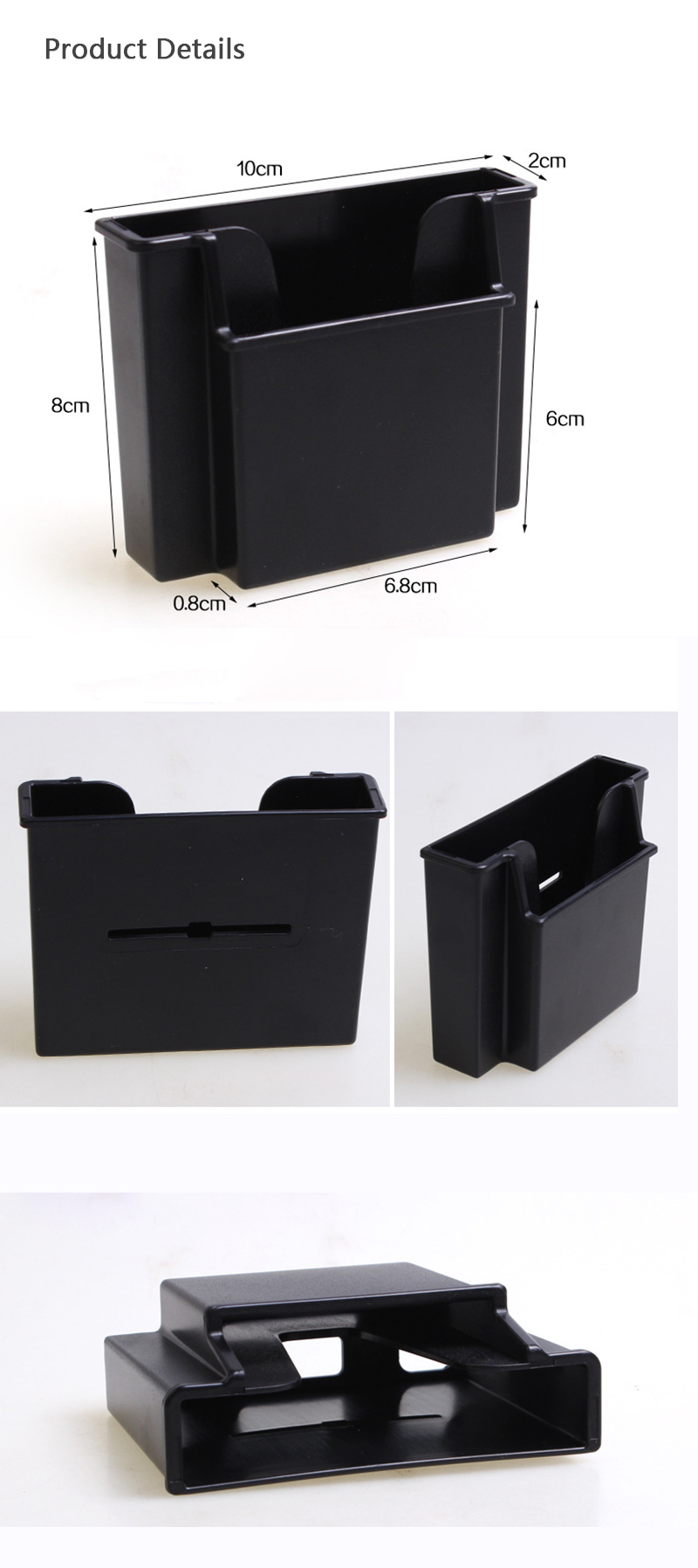 3 in 1 Car Storage Box Charging Air Vent Phone Holder Stand for Xiaomi iPhone Samsung
