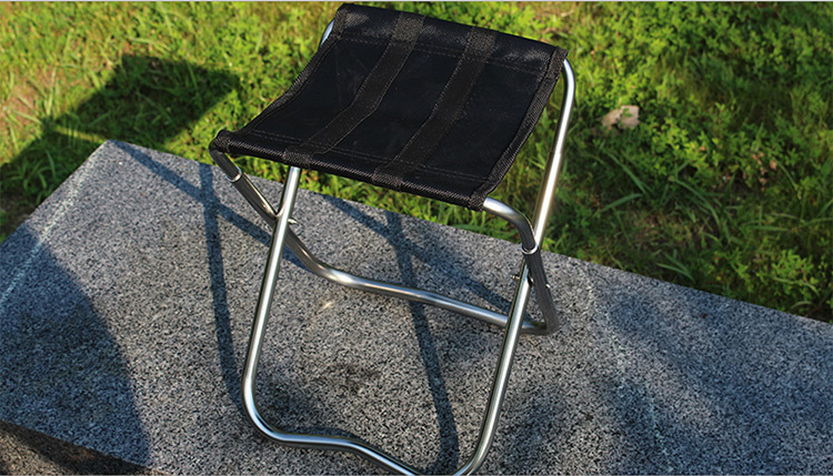 ZANLURE Outdoor Camping Fishing Folding Chair Ultralight Aluminum Alloy Stool Portable Chair