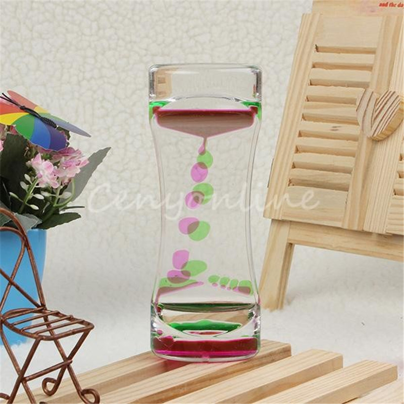Floating Color Mix Illusion Timer Liquid Motion Visual Desktop Toy 4 Colors