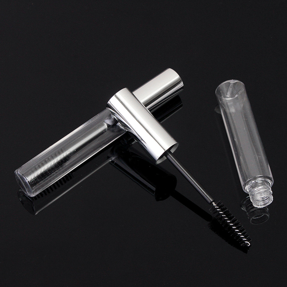1pc Clear Empty Eye Mascara Bottle Container Tube Silver Cap Cosmetics Tool Makeup 10ml
