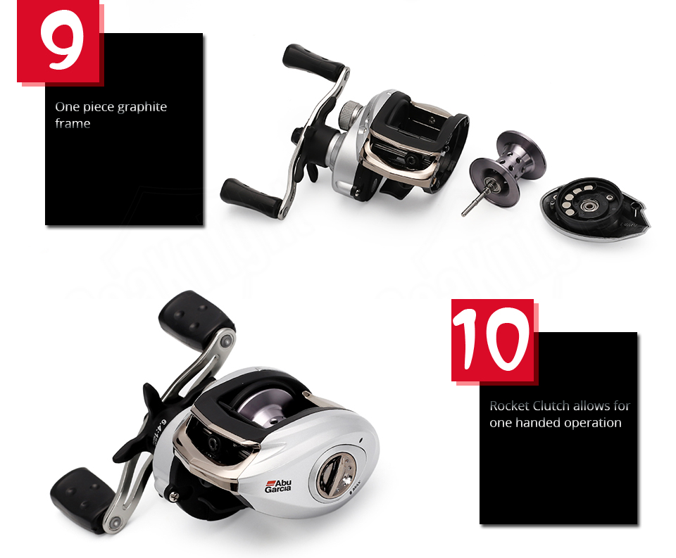 Original Abu Garcia SILVER MAX3 SMAX3 6.4:1 Left Right Hand BaitCasting Fishing Reel 5+1BB 209g Reel