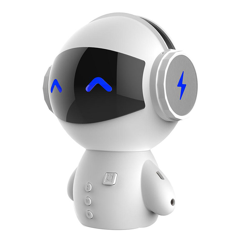 Bakeey Robot Portable Stereo Noise Cancelling Power Bank TF Card Wireless Bluetooth Speaker with Mic