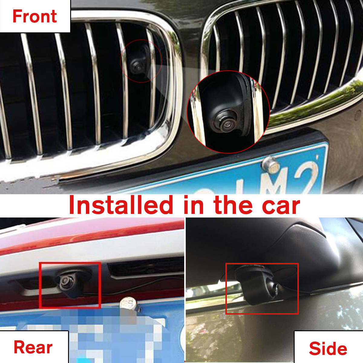 MiNI CCD Coms HD Night Vision 360° Car Rear Front Side View Backup Camera