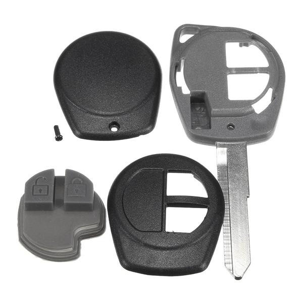 Car 2 Button Remote Key Fob Case Shell Uncut Blade for Suzuki Vauxhall Agila