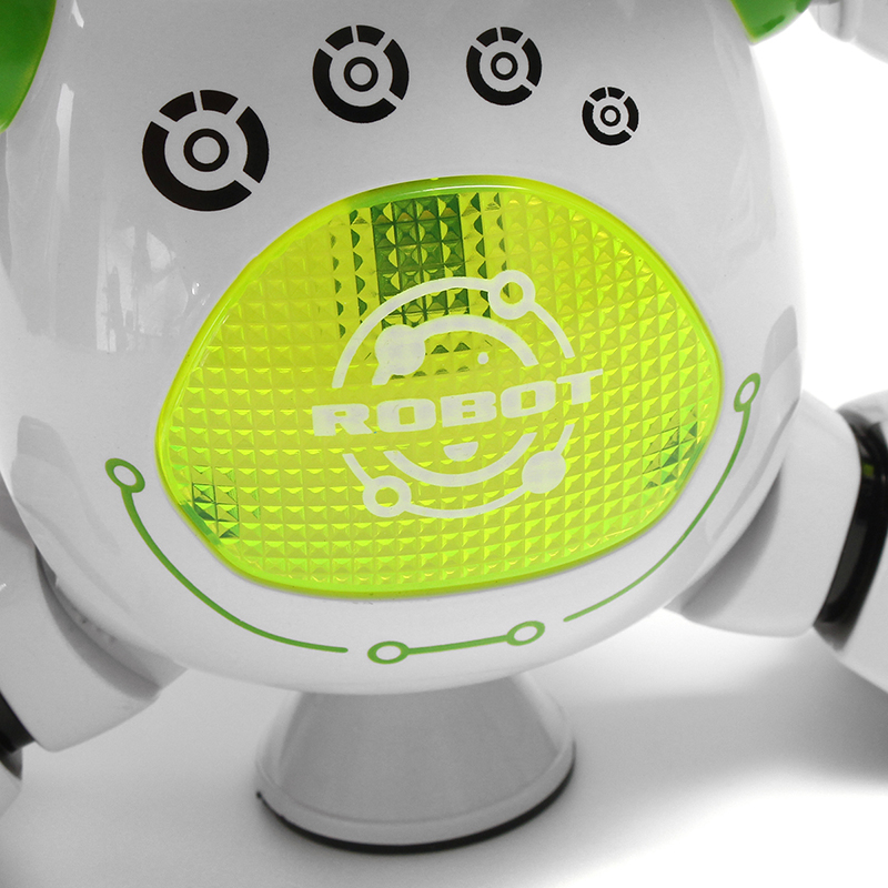 LeZhou Smart Dancing Robot Electronic Toys With LED Music Light Gift For Kids Green