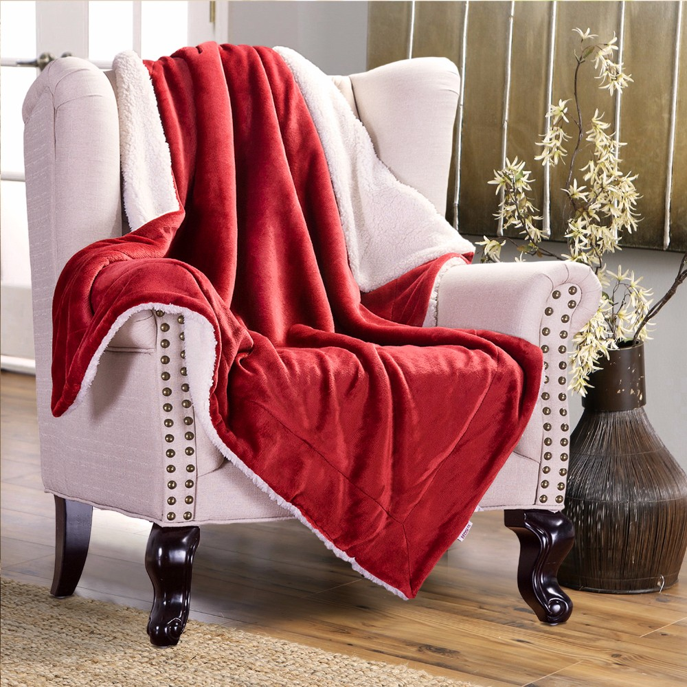 KCASA KC-FB52 Blankets Cozy Warm Plush Blanket Super Soft Blanket on the Bed Home Travel Throws for Sofa