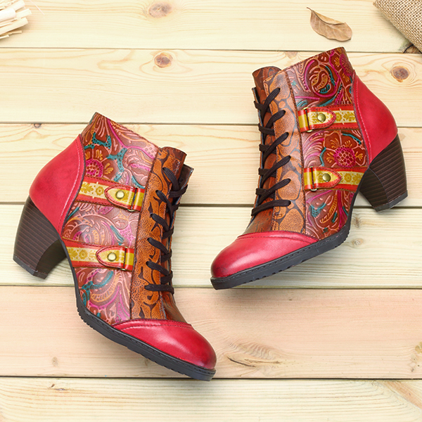 SOCOFY Casual Short Boots For Women
